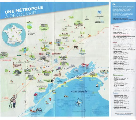 Carte Montpellier et sa région - AEF Accueil chez l'habitant à Montpellier, France